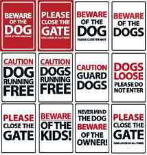 Caution & Warning Plastic Advisory Dog Signs