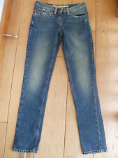 FAT FACE STONEWASHED INDIGO BLUE VINTAGE USED LOOK CARROT JEANS 6 R  27839