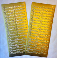 Peel Off Evening Invitation & Menu Stickers - Two Sheets in Gold or Silver