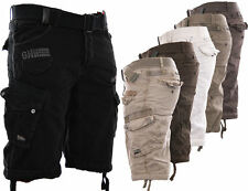 GEOGRAPHICAL NORWAY CARGO SHORTS KURZE HOSE HERREN SHORT BERMUDA + GÜRTEL