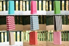 10 Coloured Colour Party Paper Loot Bags Favor Lolly Gift Wedding Bag Small