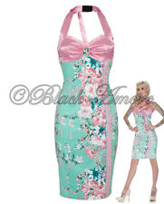 ROCKABILLY PENCIL GREEN PINK DRESS WEDDING WIGGLE VINTAGE PARTY PROM RETRO 50s