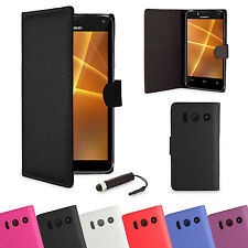 NEW WALLET LEATHER CASE COVER FOR HUAWEI ASCEND Y300 FREE SCREEN PROTECTOR