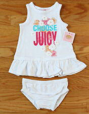 Juicy Couture Baby Girls Sundress & Bloomers ~ White, Blue, Pink & Orange~Floral