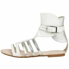 Laura-Brandon-Kim-Womens-Gladiator-Tan-Flat-Sandal-Free-Shipping