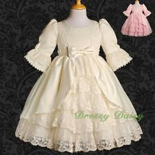Girls Fancy Princess Victorian Vintage Costumes Party Dress Up Size 2-9 VD003