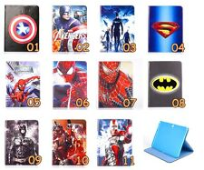 Super Hero Spiderman Ironman Leather Cover Case Samsung Galaxy Tab 4 T530 10.1''