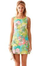 NEW Lilly Pulitzer Dress Delia Shift cotton floral Dress Shorely Blue 2 4 6