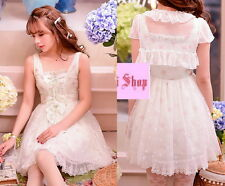 Japan Fashion Princess Cute Kawaii Lolita Slim Lace dress Onepiece+Lace Jacket
