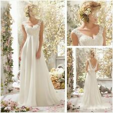 2015 New Whiteivory Wedding Dress Lace Bridal Gown Stock Size 6-8-10-12-14-16
