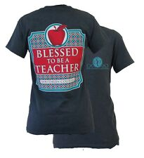 New Southern Couture Preppy Blessed to be a Teacher Girlie Bright T Shirt