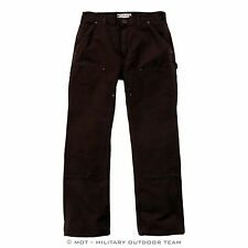 Carhartt WASHED DUCK DOUBLE WORK PANT Hose, Arbeitshose, dunkel braun, EB136