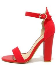 Sexy Red Madden Kors Adjustable Ankle Strap Sandal Heels Open Toe Spring Fashion