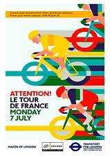 TFL Tour De France , Old Cycling advertising wall art poster reproduction.