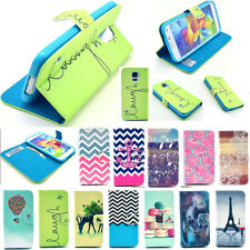 New Case Wallet Flip Stand Leather For iPhone 4 5 5S Cover Samsung S3 S4 S5 Min