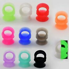 1 Pair Thin Silicone Flexible Ear Skin Tunnels Plugs Expander Gauge Earlets
