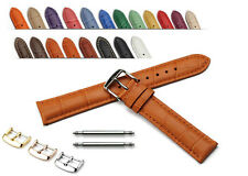 Calf Leather Strap Croco Watch Band Steel Buckle 18mm 19mm 20mm 21mm 22mm Mens