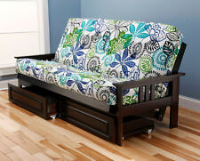 "79"" Kodiak Monterey Mission futon full mattress w 2 drawers. Pick color, finish"