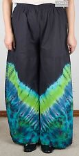 New Tie Dye Flared Cotton Multi-Coloured Pants (Gypsy Hippy/Boho) - FPant C