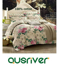 Premium New Single/Double/Queen/King Bed Quilt/Doona/Duvet Cover Set 100%Cotton