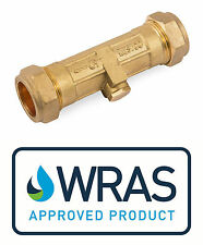 Double Check Valve WRAS Approved DZR Brass Compression 15mm or 22mm Option
