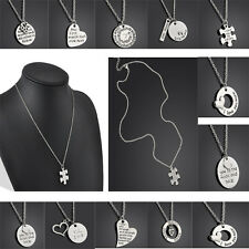 New Gift Family Members Proverbs Love Letter Necklace Simple Pendant Lover Gift