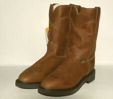 Double Comfort ~Slip-On Work Boots (Made in USA) Justin Men's 4760 Aged Bark brn