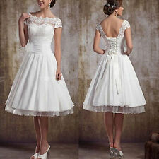 Tea Length 2015 New Fashion Lace Up Plus Size Ball Gown Short Wedding Dresses
