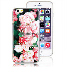Flowers Pattern TPU Soft Rubber Shell Back Cover Case for Iphone 5/5S/6/6Plus