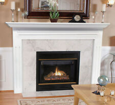 "Pearl Mantel classic 48"" Newport white traditional fireplace mantel. 510-48"