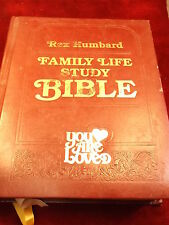 "LARGE OLD VTG 1982 BIBLE, REX HUMBARD ""FAMILY LIFE STUDY BIBLE"", PHOTOS, MORE"