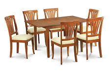 7 Piece dinette set for small spaces-Small kitchen table and 6 Kitchen Chairs