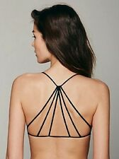 NEW Free People Intimately Seamless Black Strappy Back Bra Sz XS/S- M/L $30