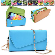 Womens PU Leather Wallet Case Cover & Crossbody Clutch for Smart-Phones MLUB10
