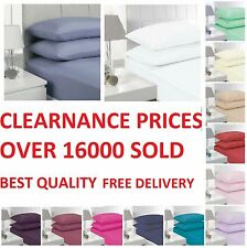 """SINGLE, DOUBLE, KING SUPER KING SHEETS SIZE 16""""/40 CM EXTRA DEEP FITTED PERCALE"""