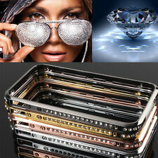 Diamond Crystal Bling Metal Aluminum Bumper Case Cover for iPhone 4S 5S 6 Plus