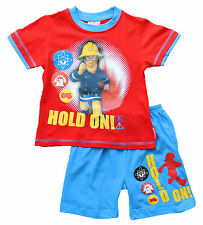 Cool Fireman Sam Short Pyjamas 2 3 4 5 6  Years
