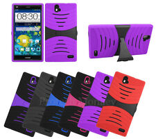 New Wave Built in Screen Protector Stand Hybrid Cell Phone Case Cover Accessory