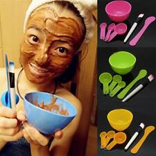 Hot 6 in1 Makeup Beauty DIY Facial Face Mask Bowl Brush Spoon Stick Tools Set