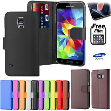 LEATHER Book FLIP Phone WALLET CASE COVER FOR SAMSUNG Galaxy Mobile + Protector