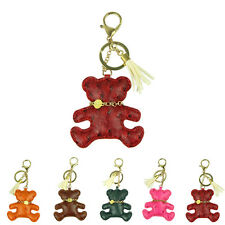 Lovely Car CJewelry Bag Charm Brand PU Leather Bear Key Ring