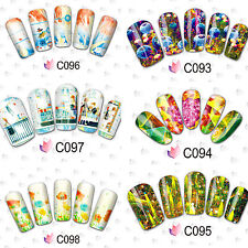 New Unique Ocean Dream & Youth Water Transfer Nail Art Stickers #C092-099