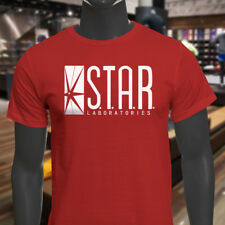 The Flash DC Barry Allen Laboratories Star Labs Mens Red T-Shirt