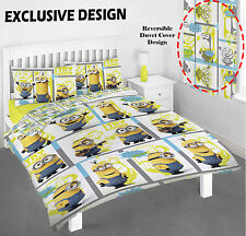Despicable Me Minions Single Double Reversible Bed Duvet Quilt Cover Set New