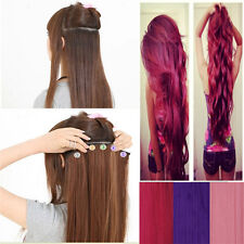 Hot sale Fashion 3/4 Full Head Weft Clip In Hair Extension hairpieces long piece