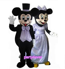 【SALE】 NEW WEDDING MICKEY AND MINNIE MOUSE MASCOT COSTUME ADULT SIZE EPE HEAD