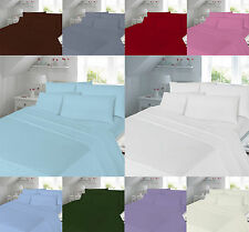 Hotel Quality 180 Thread Bed Linen Percale Duvet Covers Bedding Sets Pillow Case