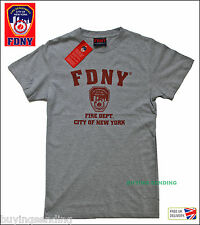 NEW FDNY NEW YORK CITY LICENSED T SHIRT FIRE CAP DEPARTMENT FIREMAN TOP