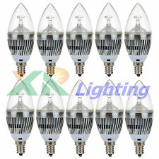 10x E12 Base 3W 6W 9W Dimmable High Power LED Chandelier Candle Light Bulb 110V