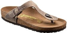 BIRKENSTOCK GIZEH THONGS TOBACCO BROWN LEATHER ORIGINAL MEN WOMEN'S THONG SANDAL